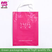 HOT SALE!!! Eco custom design pe soft loop handle bags for shopping/gift/apparel with RoHS